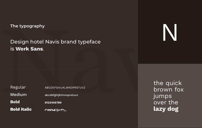 Design hotel Navis brand typeface image