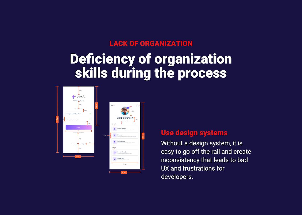 Organization skills during handoff process